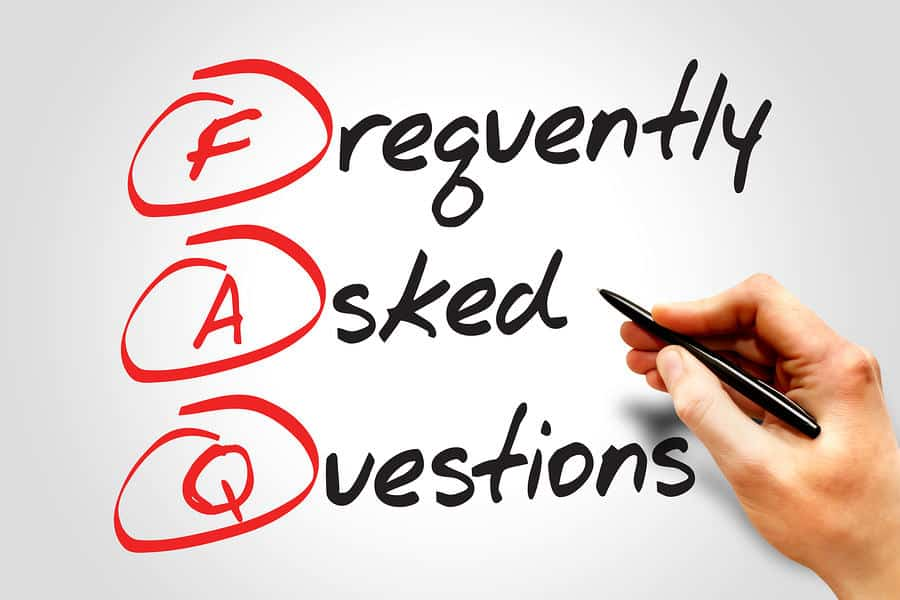 Frequently Asked Questions (FAQ) business concept acronym