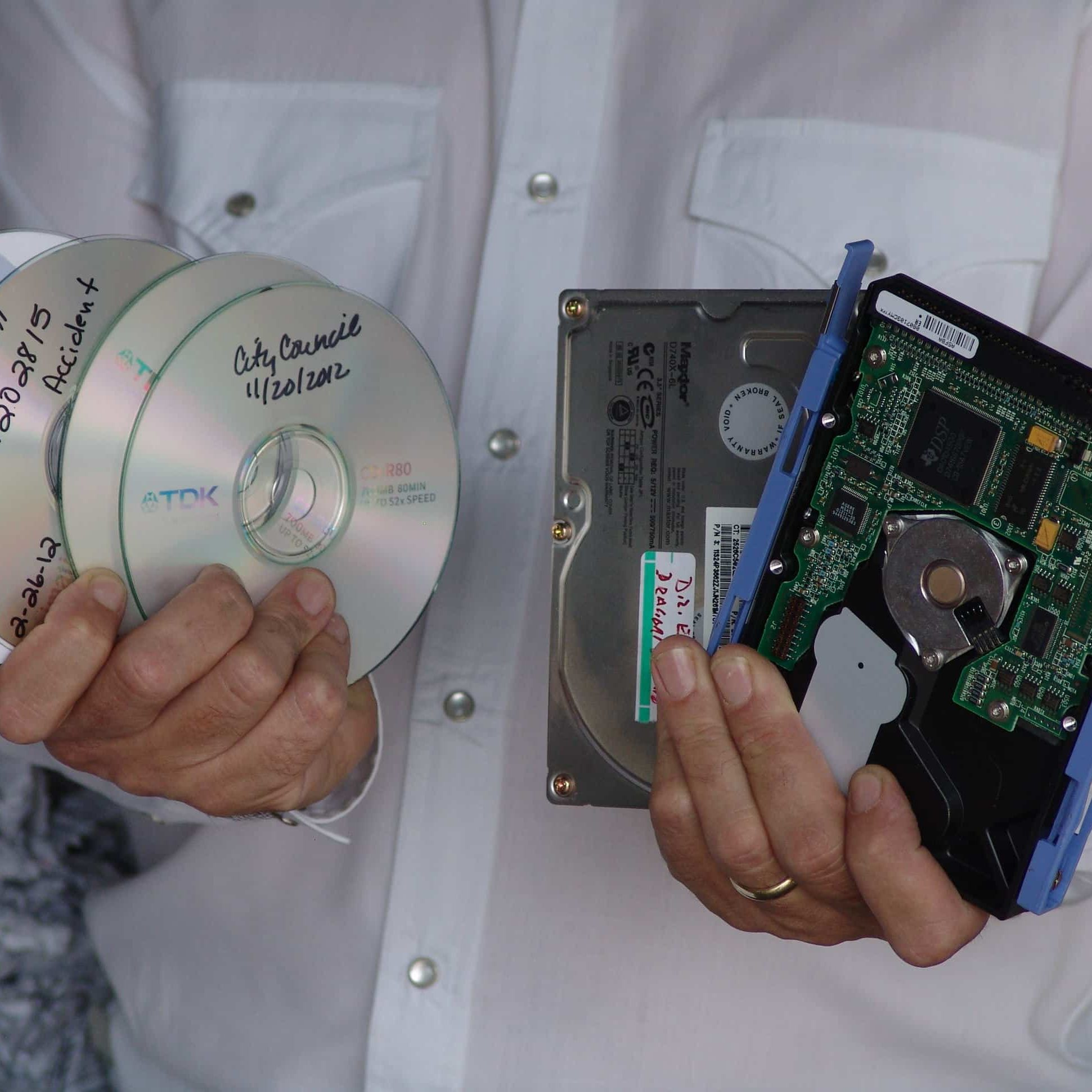physical media & hard drives to be destroyed